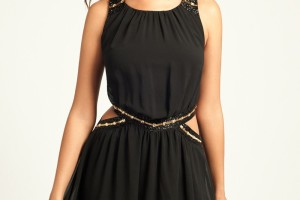 Fashion , 10 Little Black Homecoming Dresses : Little Mistress Black Chiffon Prom Dress