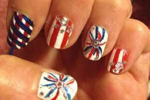 736x858px 6 Fourth Of July Nail Designs Picture in Nail
