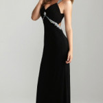 Sexy Black Long Prom Dress By Night Moves 6614 | StyleCaster , 10 Sexy Long Black Dress In Fashion Category