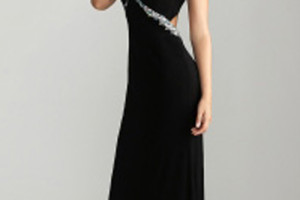 Fashion , 10 Sexy Long Black Dress : Sexy Black Long Prom Dress by Night Moves 6614 | StyleCaster