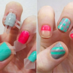 Amazing Scotch Tape Nail Art Designs , 6 Scotch Tape Nail Designs In Nail Category