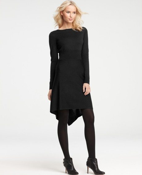 10 Long Sleeve Black Sweater Dress in Fashion