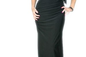 Fashion , 9 Pictures Of One Shoulder Long Black Dress : BLACK LONG ONE SHOULDER DIAMANTE DRESS