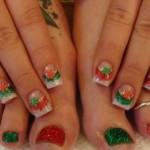 Beautiful Christmas Nail Designs , 6 Christmas Toe Nail Designs In Nail Category
