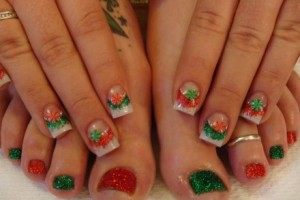 520x293px 6 Christmas Toe Nail Designs Picture in Nail