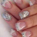 Beautiful Silver Glitter Nails , 6 Sparkly Nail Designs In Nail Category