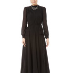 Black Chiffon Turtleneck Long Sleeve Maxi Dress , 7 Long Black Turtleneck Dress In Fashion Category