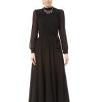 Black Chiffon Turtleneck Long Sleeve Maxi Dress , 7 Long Black Turtleneck Dress In Fashion Category