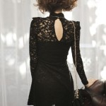 Black Lace Long Sleeves Turtleneck Korean Dress , 7 Long Black Turtleneck Dress In Fashion Category