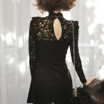 Black Lace Long Sleeves Turtleneck Korean Dress , 7 Long Black Turtleneck Dress In Fashion Category