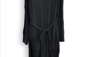Fashion , 10 Long Sleeve Black Sweater Dress : Black Long Sleeve Drawstring Sweater Dress