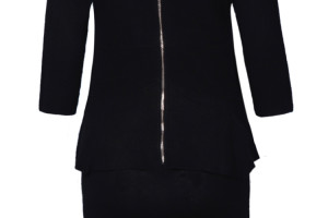 750x1091px 10 Long Sleeve Black Sweater Dress Picture in Fashion