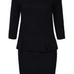 Black Long Sleeve Ruffle Bodycon Sweater Dresses , 10 Long Sleeve Black Sweater Dress In Fashion Category