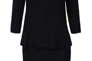Fashion , 10 Long Sleeve Black Sweater Dress : Black Long Sleeve Ruffle Bodycon Sweater Dresses