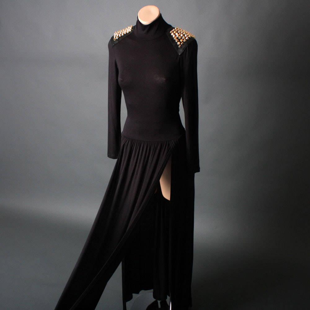 7 Long Black Turtleneck Dress in Fashion