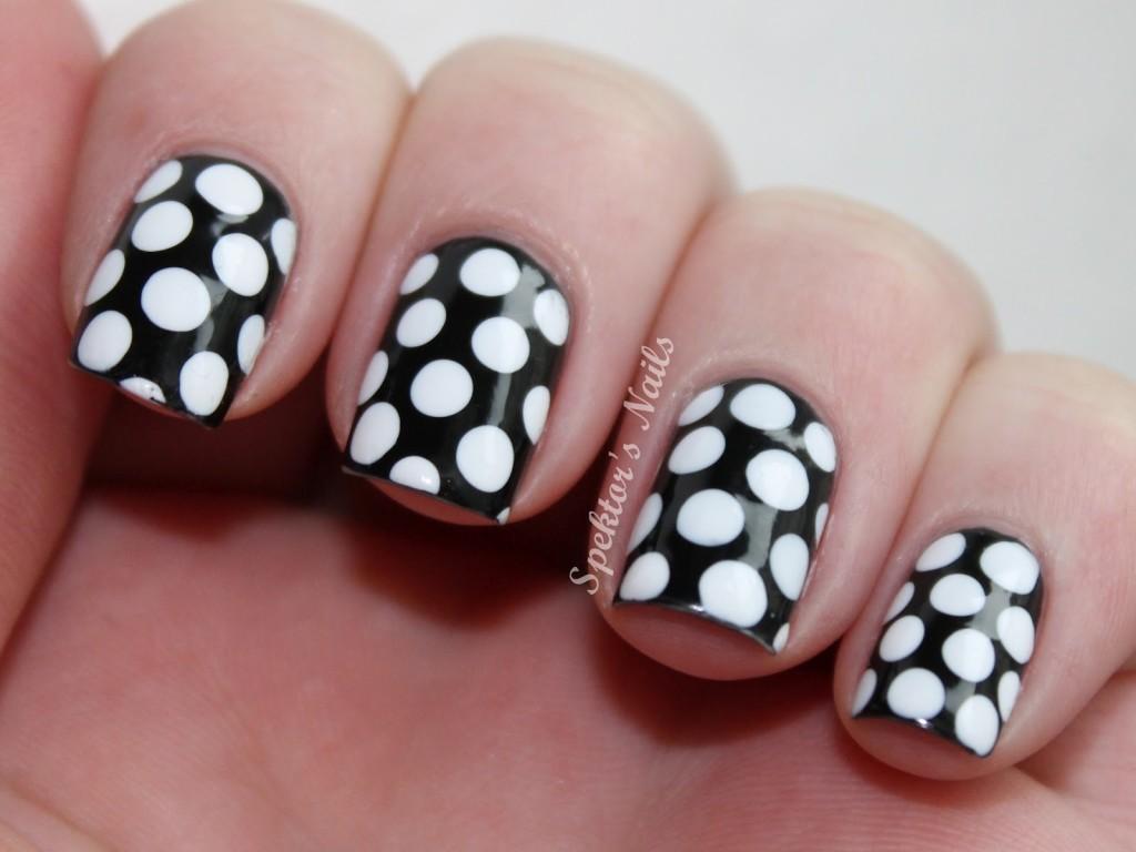 Nail , 8 Polka Dot Nail Designs : Black & White Polka Dot Nails