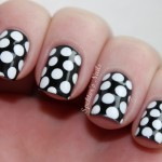 Black & White Polka Dot Nails , 8 Polka Dot Nail Designs In Nail Category