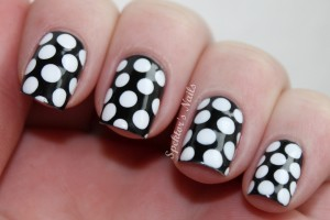Nail , 8 Polka Dot Nail Designs : Black & White Polka Dot Nails