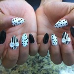 Black And White Pointy Nails , 7 Pointy Nails Design In Nail Category