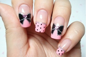 Nail , 7 Bow Nail Designs : Bow Nail Polish design