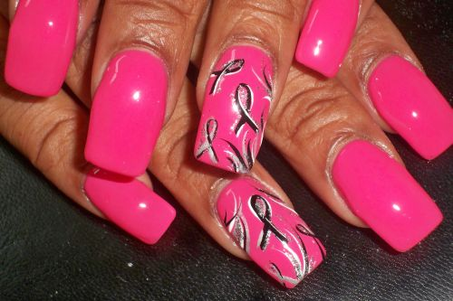 T Cancer Awareness Month Nail Design Best Nails 2018