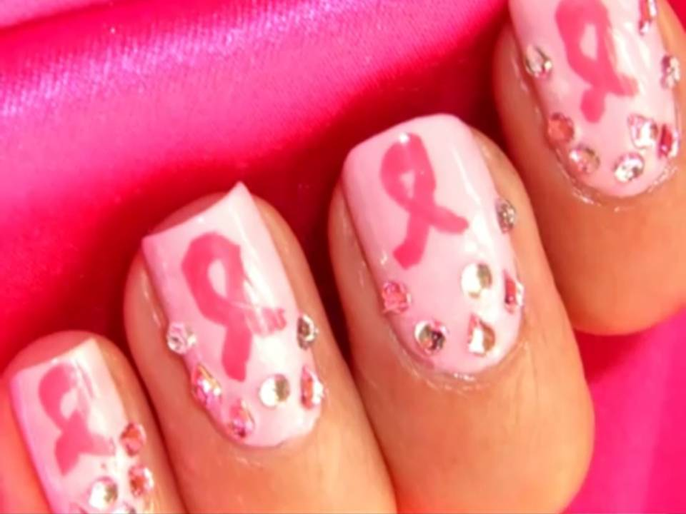 7 Breast Cancer Nail Designs in Nail