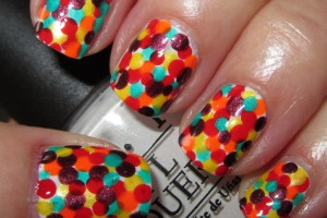 Nail , 8 Polka Dot Nail Designs : Bright polka dot nails designs