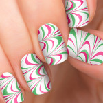 Candy Cane Holiday Nail Designs , 6 Swirl Nail Designs In Nail Category