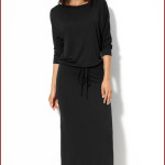 Casual Knitted Black Long Dress , 9 Casual Long Black Dress In Fashion Category