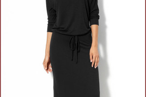 Fashion , 9 Casual Long Black Dress : Casual Knitted Black Long Dress