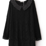 Casual Style Black Plain Lace Dress , 9 Casual Long Black Dress In Fashion Category