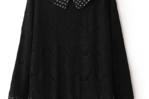 Fashion , 9 Casual Long Black Dress : Casual Style Black Plain Lace Dress
