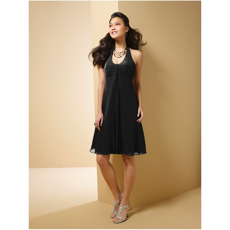 Fashion , 7 Little Black Bridesmaid Dress : Chiffon Bridesmaid Cocktail Party Dress