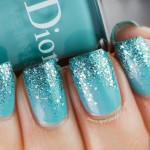 Color Turquoise sparkle gradient nail color , 6 Turquoise Nail Designs In Nail Category