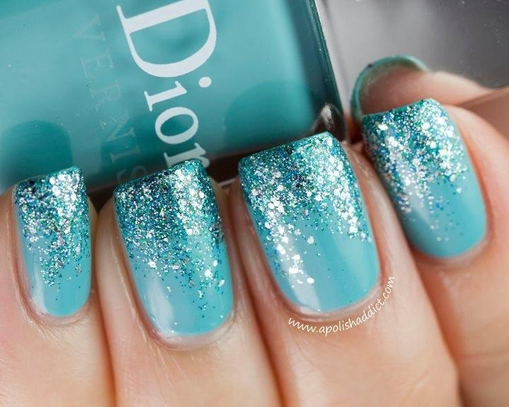 Color turquoise sparkle gradient nail color 6 turquoise nail large 720 x 576 prinsesfo Gallery