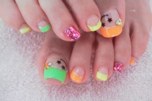 Nail , 6 Nail Art Designs For Toes : Cool Toe Nail Art Designs