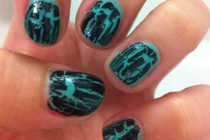 556x596px 6 Crackle Nail Designs Picture in Nail