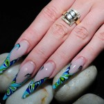 Crystal stiletto Nails designs , 6 Stiletto Nail Designs In Nail Category