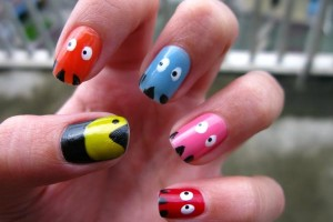Nail , 6 Cutest Nail Designs : Cute pac man Nail Designs