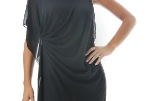 Fashion , 9 Styles Of One Shoulder Little Black Dress : Draped Grecian One Shoulder Dress