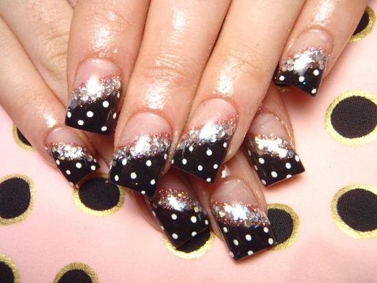 Nail , 8 Polka Dot Nail Designs : Easter Fashion Polka Dots Nails Designing