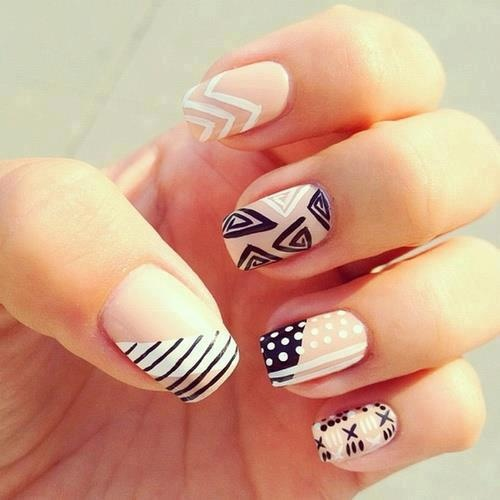 Nail , 6 Easy Nail Designs Tumblr : Easy Nail Designs For Beginners