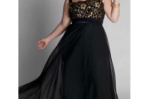 Fashion , 3 Elegant Long Black Dress Plus Size : Elegant Black and Gold Plus Size Dress