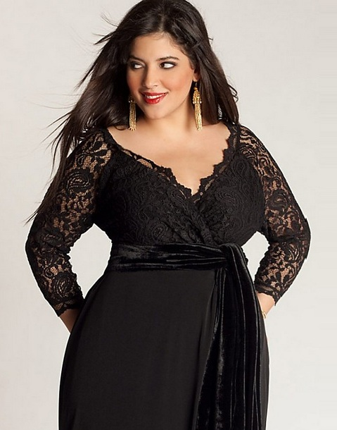 3 Elegant Long Black Dress Plus Size in Fashion