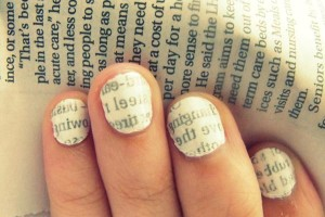 Nail , 7 Newspaper Nails Designs : Exciting Nail Polish Designs