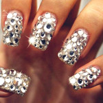 Fashionable Diamond Art , 5 Nail Designs With Diamonds In Nail Category