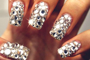 500x416px 5 Nail Designs With Diamonds Picture in Nail