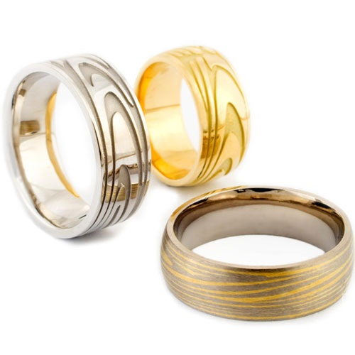 Wedding , Wedding Ring Idea For Women : Fingerprint Wedding Ring Ideas