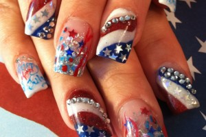 640x640px 6 Fourth Of July Nail Designs Picture in Nail