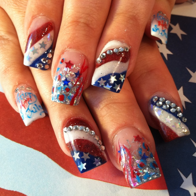 6 Fourth Of July Nail Designs in Nail